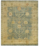 RugStudio presents Safavieh Oushak OSH117A Medium Blue / Green Hand-Knotted, Best Quality Area Rug