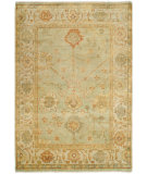 RugStudio presents Safavieh Oushak OSH117B Dark Green / Light Green Hand-Knotted, Best Quality Area Rug
