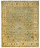 RugStudio presents Safavieh Oushak OSH141A Soft Green / Ivory Hand-Knotted, Best Quality Area Rug