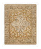 RugStudio presents Safavieh Oushak Osh233b Gold / Brown Hand-Knotted, Good Quality Area Rug