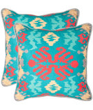 RugStudio presents Safavieh Pillows Rye Aqua/Red