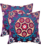 RugStudio presents Safavieh Pillows Vanessa Gold/Purples
