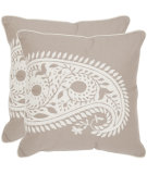 RugStudio presents Safavieh Pillows Paisley Natural/White