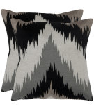RugStudio presents Safavieh Pillows Great Bason Grey/Charcoal/Black