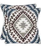 RugStudio presents Safavieh Pillows Navajo Blues/Greys