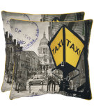 RugStudio presents Safavieh Pillows Belgrade Yellow / Grey
