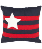 RugStudio presents Safavieh Pillows Jovi Red / Navy