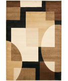 RugStudio presents Safavieh Porcello Prl6844 Black / Multi Machine Woven, Good Quality Area Rug