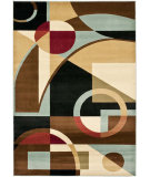 RugStudio presents Safavieh Porcello Prl6845 Black / Multi Machine Woven, Good Quality Area Rug