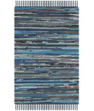 RugStudio presents Safavieh Rag Rug Rar121c Ink / Multi Rag Area Rug