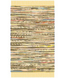RugStudio presents Safavieh Rag Rug Rar121h Yellow / Multi Rag Area Rug