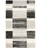 RugStudio presents Safavieh Retro Ret2692 Black / Light Grey Machine Woven, Good Quality Area Rug