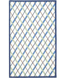 RugStudio presents Safavieh Kids Sfk224a Ivory / Blue Hand-Hooked Area Rug