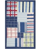 RugStudio presents Safavieh Kids SFK318A Blue / Multi Hand-Hooked Area Rug