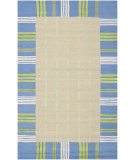 RugStudio presents Safavieh Kids SFK320A Taupe / Blue Hand-Hooked Area Rug
