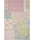 RugStudio presents Safavieh Kids SFK321A Pink / Multi Hand-Hooked Area Rug