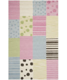 RugStudio presents Safavieh Kids SFK322A Blue / Pink Hand-Hooked Area Rug