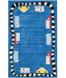 RugStudio presents Safavieh Kids SFK410A Blue / Multi Area Rug