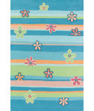 RugStudio presents Safavieh Kids Sfk750a Blue / Multi Hand-Hooked Area Rug