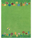 RugStudio presents Safavieh Kids Sfk751a Green / Multi Hand-Hooked Area Rug