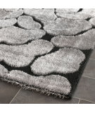 RugStudio presents Safavieh Miami Shag Sg353-9080 Black / Grey Area Rug