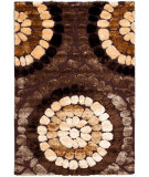 RugStudio presents Safavieh Miami Shag Sg357-2591 Brown / Multi Area Rug