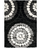 RugStudio presents Safavieh Miami Shag Sg357-9091 Black / Multi Area Rug