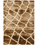 RugStudio presents Safavieh Miami Shag Sg358-1125 Creme / Brown Area Rug