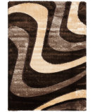 RugStudio presents Safavieh Miami Shag Sg361-2513 Brown / Beige Area Rug