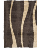 RugStudio presents Safavieh Florida Shag Sg451-2813 Dark Brown / Beige Area Rug