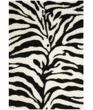 RugStudio presents Safavieh Florida Shag Sg452-1290 Ivory / Black Area Rug
