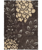 RugStudio presents Safavieh Florida Shag Sg456-2880 Dark Brown / Grey Area Rug