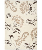 RugStudio presents Safavieh Florida Shag Sg463-1128 Cream / Dark Brown Area Rug