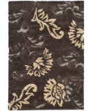 RugStudio presents Safavieh Florida Shag Sg463-2879 Dark Brown / Smoke Area Rug