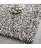 RugStudio presents Safavieh Paris Shag Sg531-7612 Platinum / Ivory Area Rug