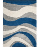 RugStudio presents Safavieh Shag Sg913-6580 Blue / Grey Area Rug