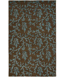 RugStudio presents Safavieh Soho Soh214b Brown / Light Blue Hand-Tufted, Better Quality Area Rug