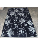 RugStudio presents Safavieh Soho Soh218a Black / Ivory Hand-Tufted, Better Quality Area Rug