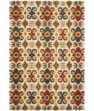RugStudio presents Rugstudio Sample Sale 47169R Ivory / Red Hand-Tufted, Better Quality Area Rug