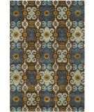 RugStudio presents Rugstudio Sample Sale 47170R Brown / Blue Hand-Tufted, Better Quality Area Rug