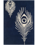 RugStudio presents Safavieh Soho Soh704d Navy - Ivory Hand-Tufted, Good Quality Area Rug