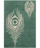 RugStudio presents Safavieh Soho Soh704t Teal - Ivory Hand-Tufted, Good Quality Area Rug
