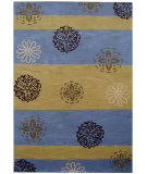 RugStudio presents Safavieh Soho Soh777b Gold / Blue Hand-Tufted, Better Quality Area Rug