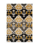 RugStudio presents Safavieh Tibetan Shag Tbs517b Black / Gold Area Rug