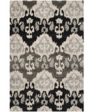 RugStudio presents Safavieh Tibetan Shag Tbs517g Ivory / Grey Machine Woven, Good Quality Area Rug