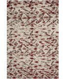 RugStudio presents Safavieh Tibetan Shag Tbs545c Ivory / Red Area Rug