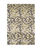 RugStudio presents Safavieh Tibetan Shag Tbs545d Ivory / Green Area Rug