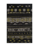 RugStudio presents Safavieh Tibetan Shag Tbs547a Black / Green Area Rug