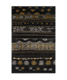 RugStudio presents Safavieh Tibetan Shag Tbs547b Black / Gold Area Rug