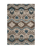 RugStudio presents Safavieh Tibetan Shag Tbs553f Brown / Turquoise Area Rug